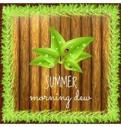 Spring positive postcard vector image vector image