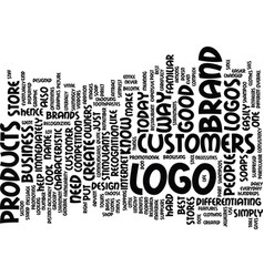 logo design text background word cloud concept vector image vector image