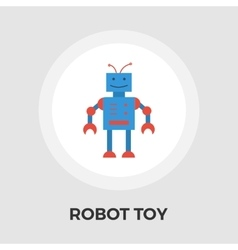 Robot toy flat icon vector image vector image