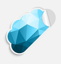 Stickers cloud vector image