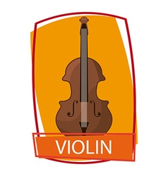 violin instrument vector image