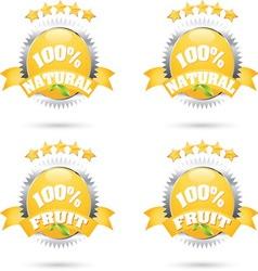 100 fruit vector image vector image