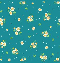 cute daisies ditsy seamless pattern vector image vector image