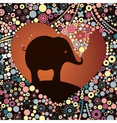 elephant lover vector image vector image