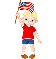 Fourth of July boy vector image vector image