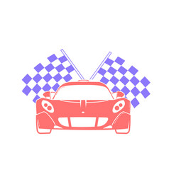 icon racing of sports cars vector image