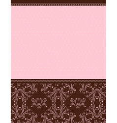 pink background with decorative ornaments vector image vector image