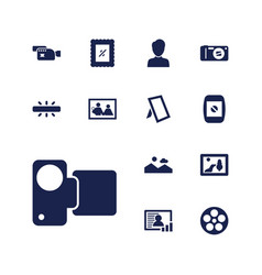 13 picture icons vector
