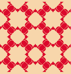 Abstract floral seamless pattern red and beige vector
