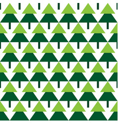 Abstract green spruce trees geometric pattern vector