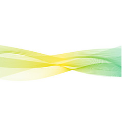 abstract transparent yellow-green gradient wave vector image
