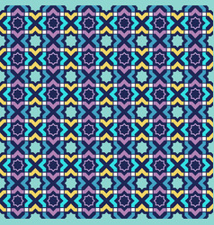 arabic colorful seamless pattern oriental vector image