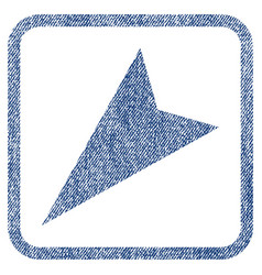 Arrowhead left-down fabric textured icon vector