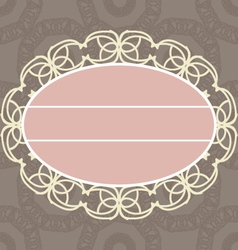 Beautiful vintage wedding invitation sample vector