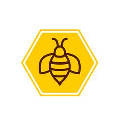 Bee icon honey logo simple vector