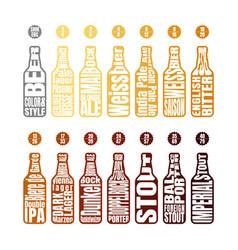 Beer color chart vector