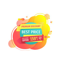 best price and premium discounts on goods vector image