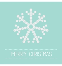 Big snowflake from little buttons Pink ribbon vector image