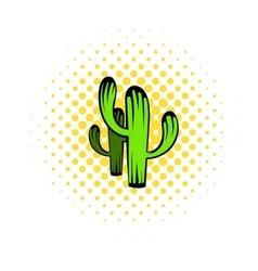 Cactus icon comics style vector