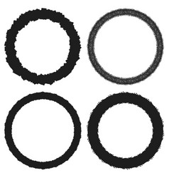 circle frame set vector image