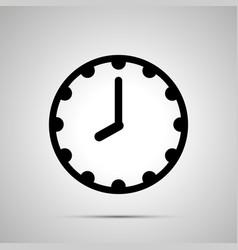 Clock face showing 8-00 simple black icon vector