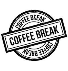 Coffee Break rubber stamp vector