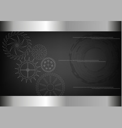 cogwheels on a black vector image