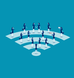 Communication business people communication vector