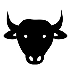 Cow icon simple style vector