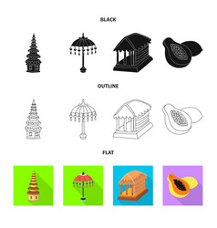 Design of and travel logo set of and vector