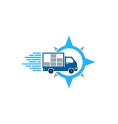 direction delivery logo icon design vector image