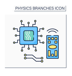 Electronics color icon vector