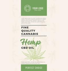 Fine quality cannabis oil abstract design vector
