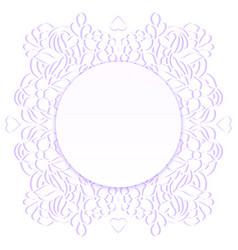 Floral paper frame vector