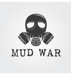 Gas mask design template vector