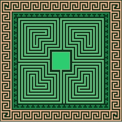 Greek ornament Meander and labyrinth vector