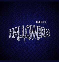 halloween banner calligraphy vector image