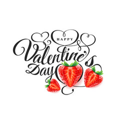 happy valentine s day font composition vector image