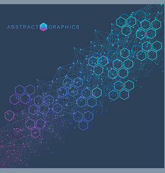 Hexagonal abstract background big data vector