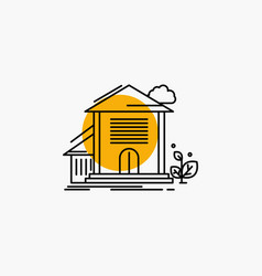 home house apartment building office line icon vector image
