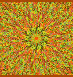 Hypnotic colorful radial flower mosaic background vector