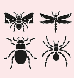 insect symbols set vector image