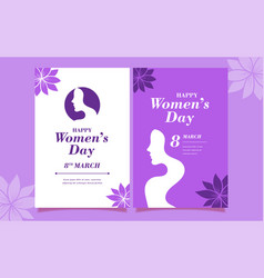 international woman s day design happy women s day vector image