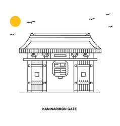 kaminarimon gate monument world travel natural vector image
