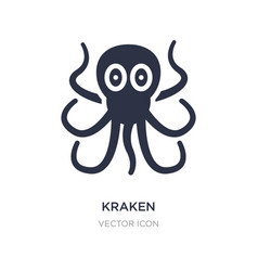 Kraken icon on white background simple element vector