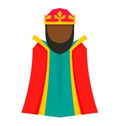 Magic epiphany king icon flat style vector