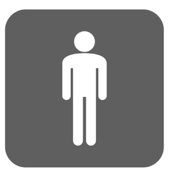 Man Flat Squared Icon vector