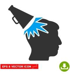 Megaphone impact head eps icon vector