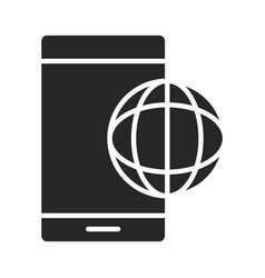 Mobile phone or smartphone world connection vector