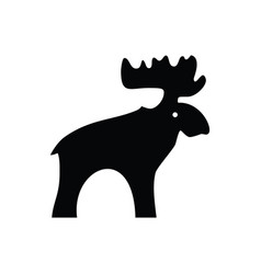 Moose black icon vector